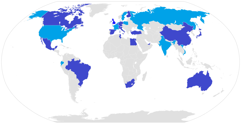Countries with a COSMIC representation