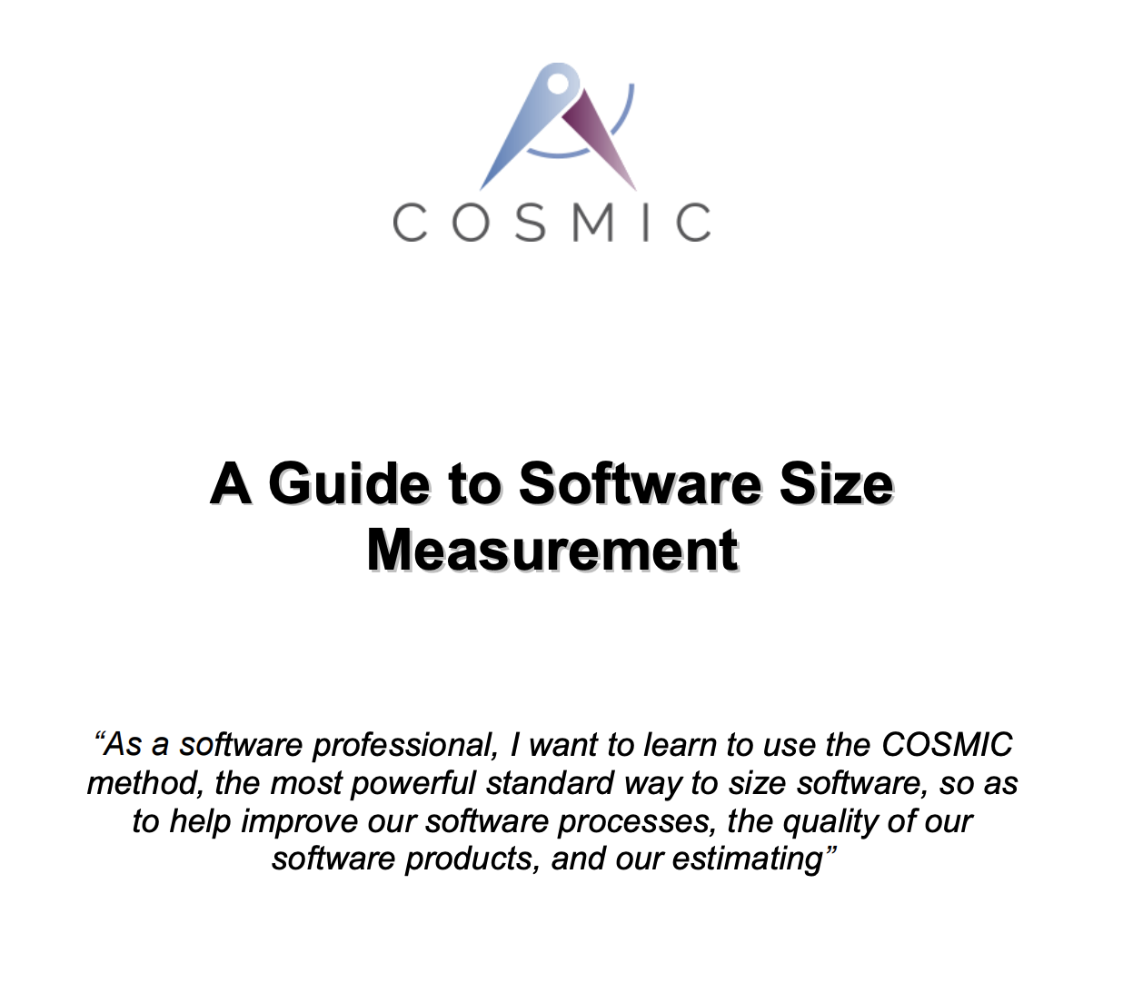 A guide to software size measurement